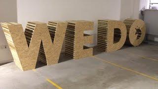 Digitaslbi Denmark 'we Do' Wooden Letters Timelapse