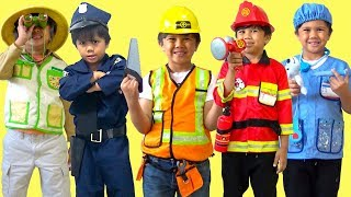 Troy Teaches Professions for Kids Fun Pretend Play Story Firefighter Doctor Magician And More