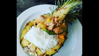 Grilled Caribbean Jerk Chicken Pineapple Boats, Cooking 4 Your Man