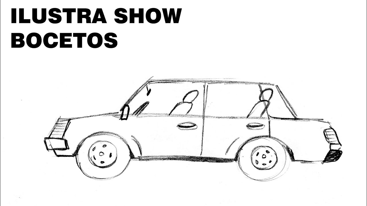 C mo dibujar carro autom vil coche sencillo tutorial for Comedor facil de dibujar