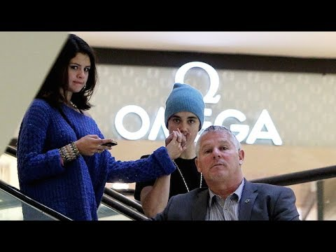 Justin Bieber Shows Selena Gomez A Little PDA At The Beverly Center [2012]