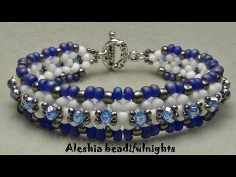 Lattice Beaded Bracelet Tutorial