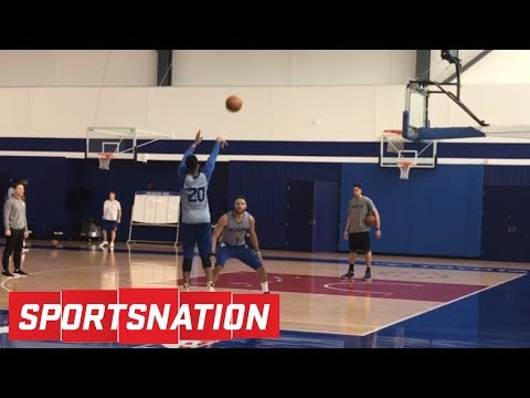 What is going on with Markelle Fultz's shot? | SportsNation | ESPN