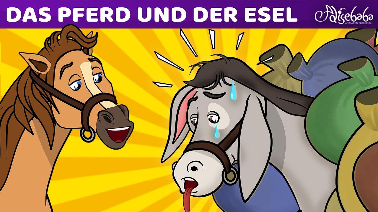 Das Pferd und Der Esel   Märchen für Kinder   Gute Nacht Geschichte