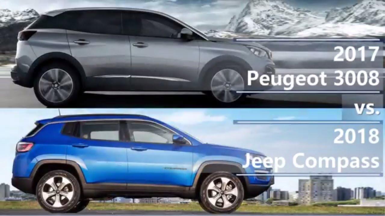 2017 peugeot 3008 vs 2018 jeep compass technical comparison youtube. Black Bedroom Furniture Sets. Home Design Ideas