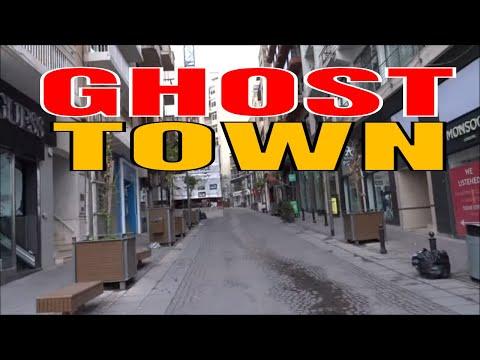 Sliema, Malta ...A Ghost Town, Restaurants and bars on shutdown