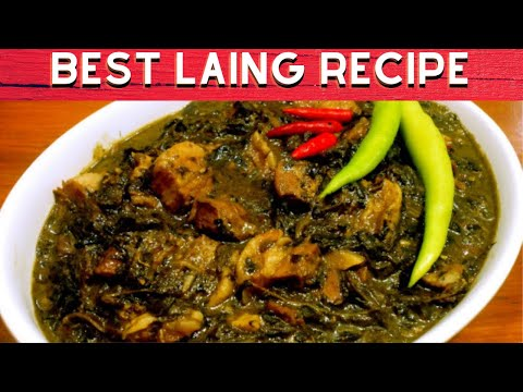 Laing Recipe (Taro leaves) Made Easy – Philippines Travel Site