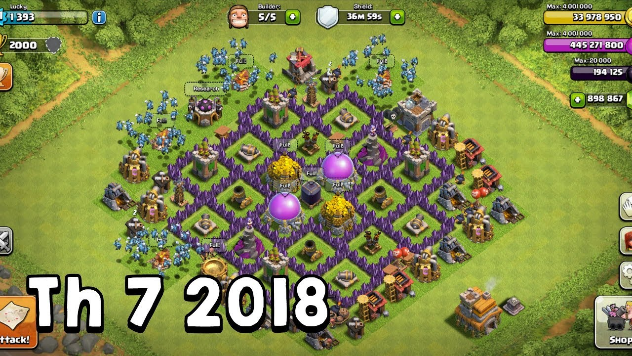 Pertahanan Base Coc Th 7 Terkuat 1
