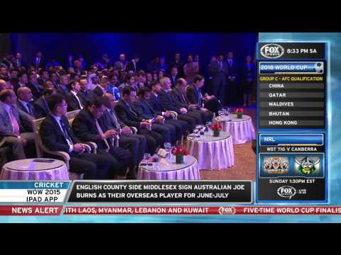 Ange Postecoglou's reaction to 2018 FIFA World Cup qualifying draw