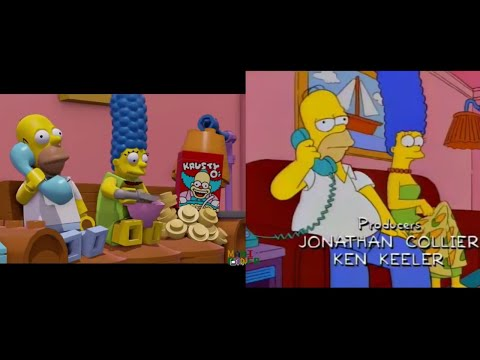 Lego Dimensions Simpsons vs TV series (Episode side by side)