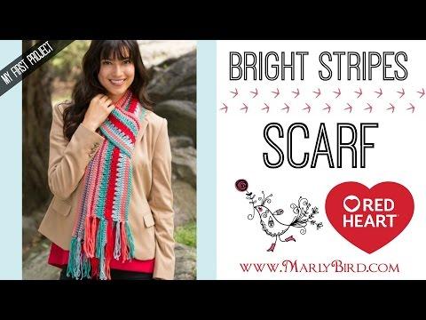 Crochet Beginner Bright Stripes Scarf
