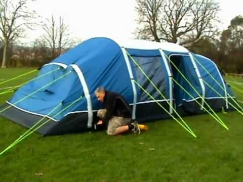 SUNNCAMP AIR-VOLUTION SAPPHIRE AIR INFLATABLE TENT & SUNNCAMP AIR-VOLUTION SAPPHIRE AIR INFLATABLE TENT - YouTube
