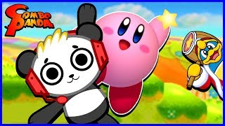 Kirby Triple Deluxe DEFEATING PLANT BOSS Let's Play with Combo Panda!!