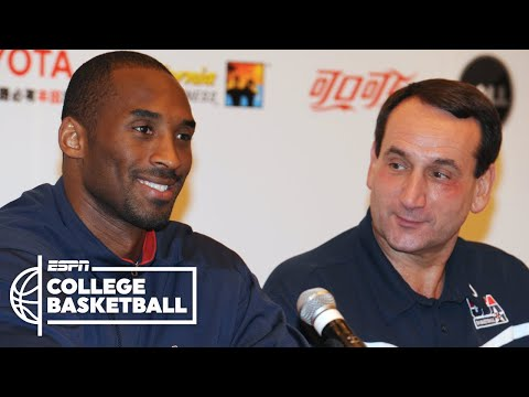 Coach K: Kobe Bryant was my leader for Team USA | College Basketball on ESPN