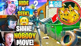 Streamers Host FUNNIEST 100 Player HIDE & SEEK Game! (Fortnite)