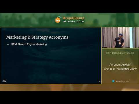 DCATL 2018 - Acronym Anxiety What do all Those Letters Mean - Kelly Dassing, Jeff Diecks on YouTube