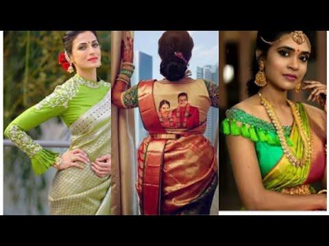 Latest South Indian unique blouse designs.// Beautiful silk saree blouse designs.