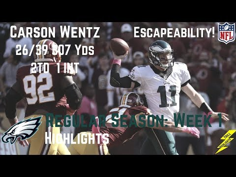 Carson Wentz Week 1 Regular Season Highlights Mobility | 9/10/2017
