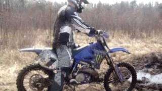 Dirt Biking in mud