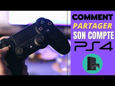 COMMENT PARTAGER SON COMPTE PS4