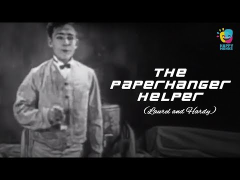 The Paperhanger Helper - Laurel And Hardy Silent Comedy Film