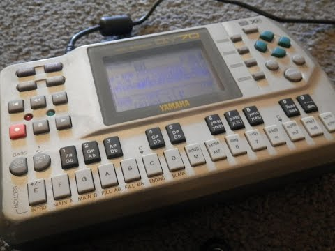 Yamaha QY70 DAW recorded demo with sounds, effects and apreggios