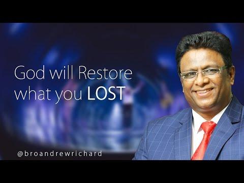 Bro Andrew Richard  - God will Restore what you  lost English Sermon