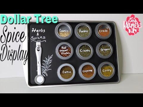 Dollar Tree DIY Magnetic Spice display