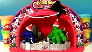 Palco de Show Play-Doh Make n Display Spiderman Hulk Stage Show Superhero Cars Spiderman Pixar