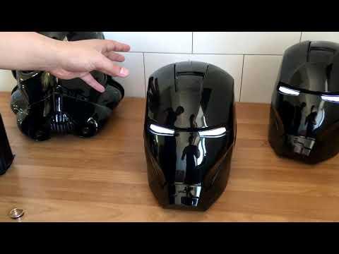 Обзор на чёрный шлем Железного Человека от Cyber Craft
