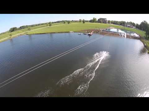 Aerial View of The Wakeboard Cable