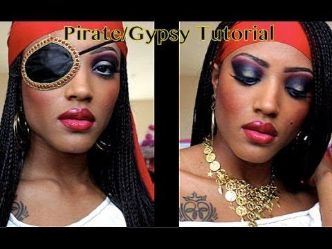 Pirate/Gypsy Halloween Tutorial - YouTube