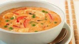 Spicy and healthy Thai chicken and Shrimp soup ( থই চকন এব চড সপ )  Easy Tai soup recipe