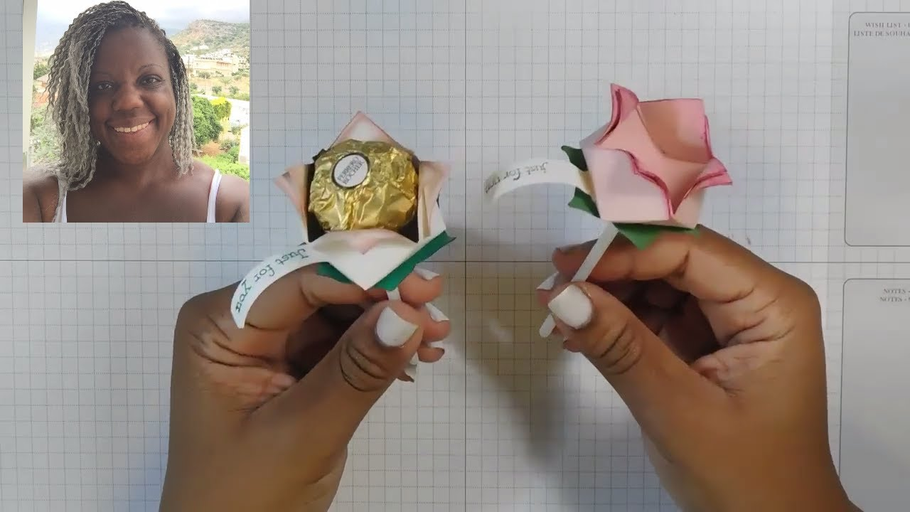 How To Make Ferrero Rocher Paper Roses My Onstage2017 Swaps Youtube