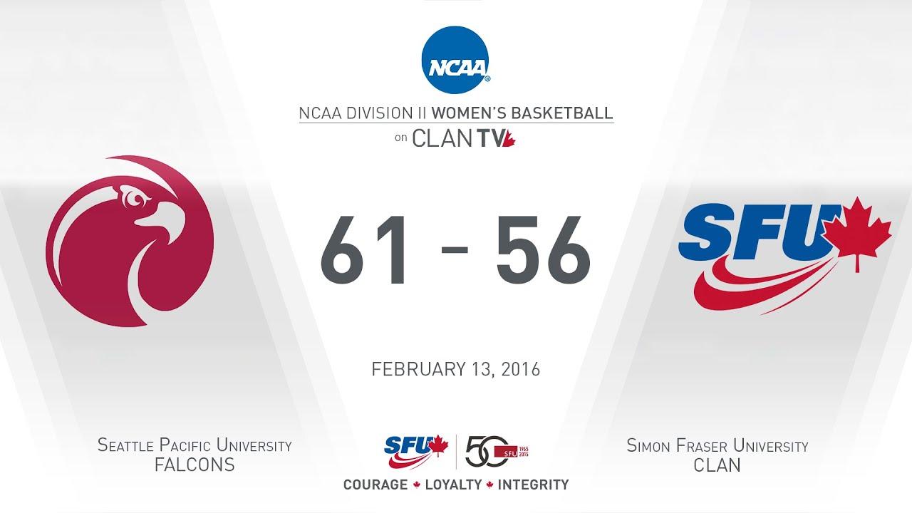 SFU Clan Women's Basketball: SFU vs. SPU - February 13, 2016 - YouTube