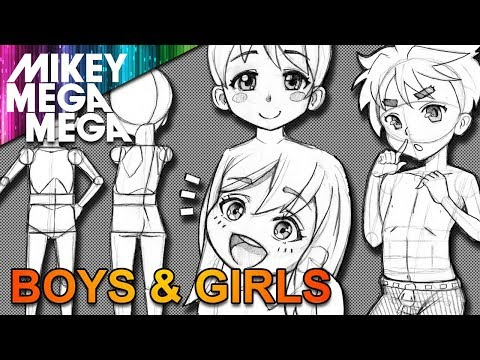 How To Draw CHILDREN FOR ANIME MANGA