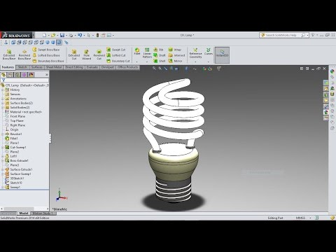 SolidWorks Tutorial Compact Fluorescent Lamp