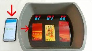 Samsung Galaxy S8 Vs Galaxy S7 Vs iPhone 7 Coca-Cola Test! Secretly Waterproof?