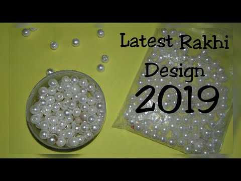 Friendship band/Latest Rakhi Design/Raksha Bandhan 2019/How to make pearl bracelet/Woolen Rakhi/DIY