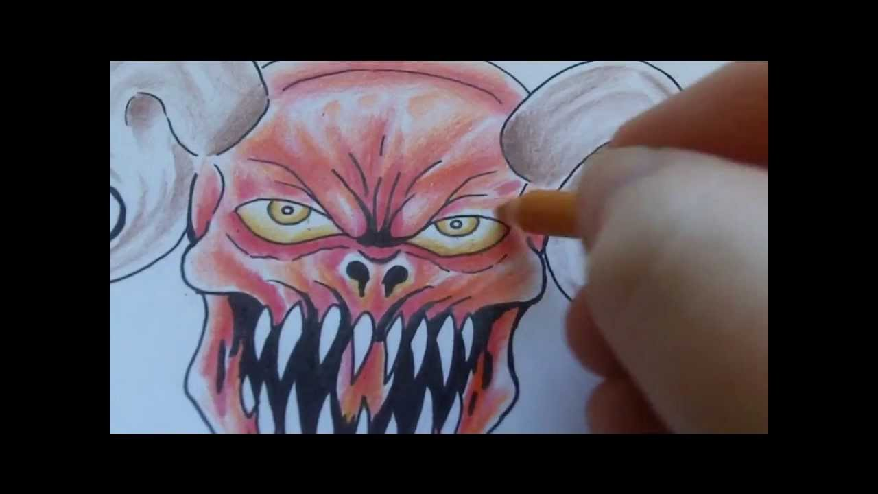 217803cfcd2d3 How To Draw A Satan Tattoo - YouTube