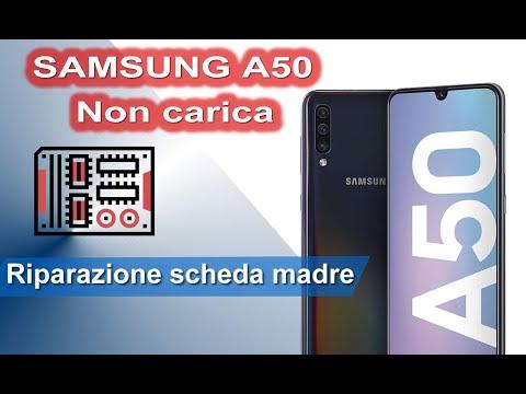 Samsung A50 non carica. Riparazione con ponticello scheda madre. Mainboard jumper. Charging solution