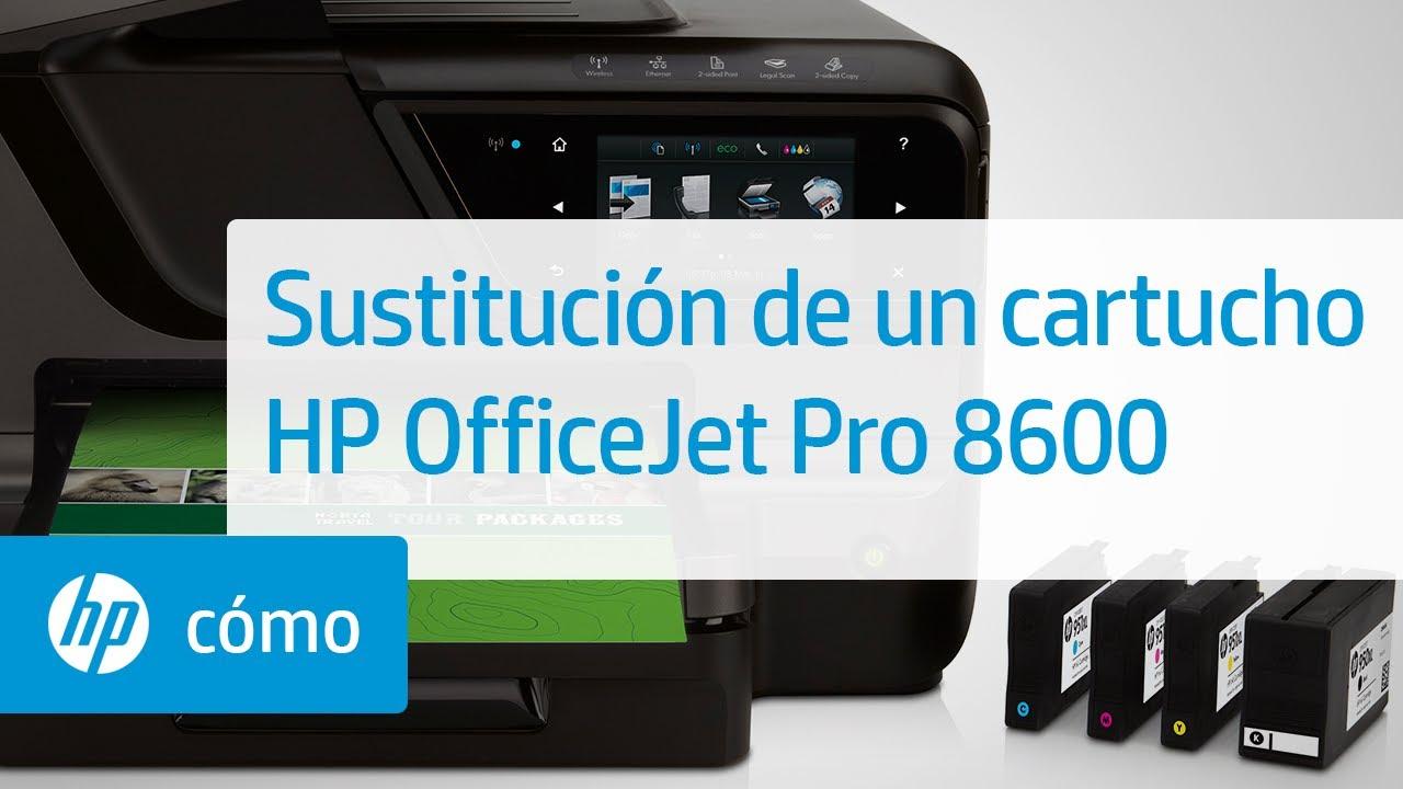 Sustitución De Un Cartucho Impresoras Hp Officejet Pro E Todo En