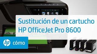 Sustitución de un cartucho - Impresoras HP Officejet Pro e-Todo-en-uno serie 8600