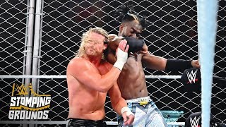 Kofi Kingston hurls Dolph Ziggler into the steel cage: WWE Stomping Grounds 2019 (WWE Network)