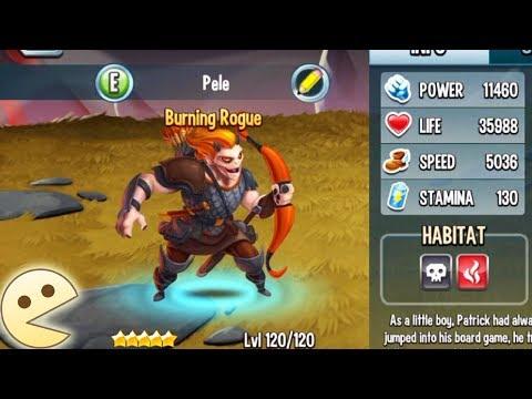 Monster Legends : Burrning Roguse level 120 combat review