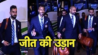 WATCH VISUALS Of Indian cricket team leaving from Mumbai Airport for the World Cup ICC CW ...