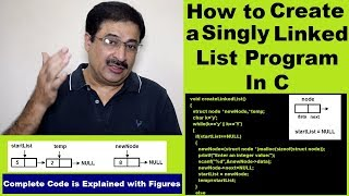 كيفية إنشاء قائمة مرتبطة منفردة البرنامج في C