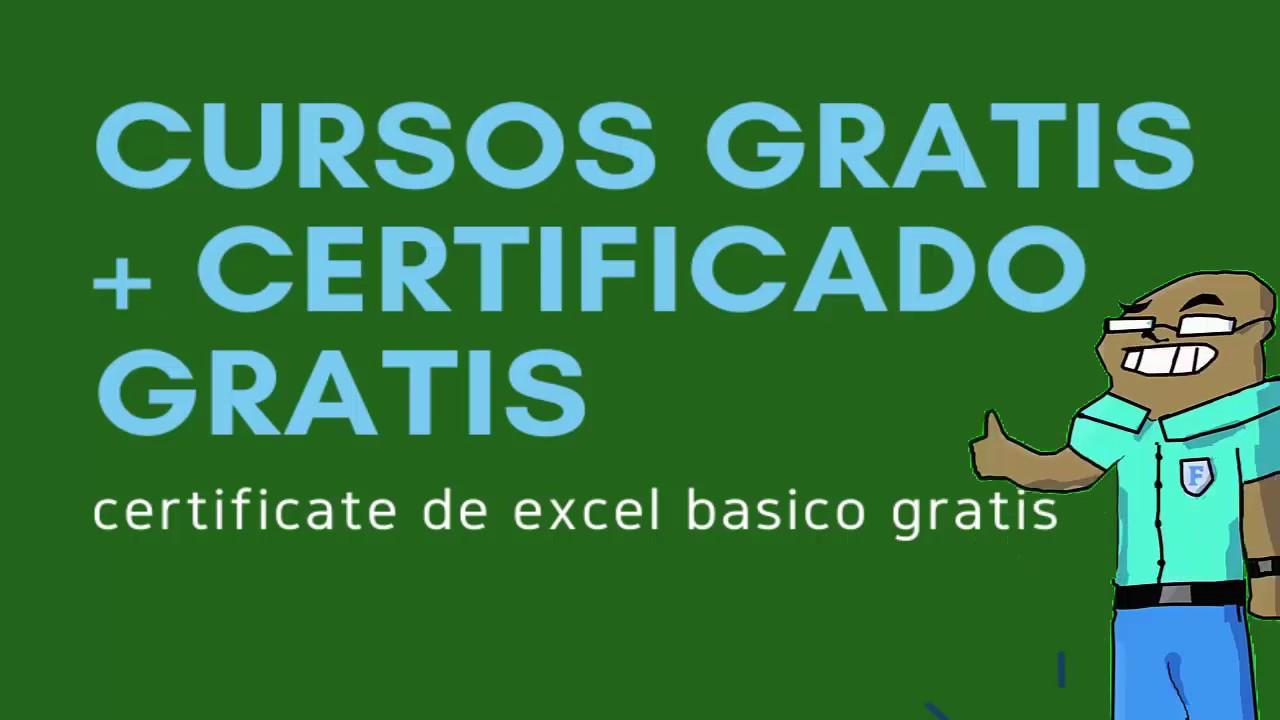 Curso De Excel Con Certificado Gratis Curso De Excel Online Gratis Certificado Youtube