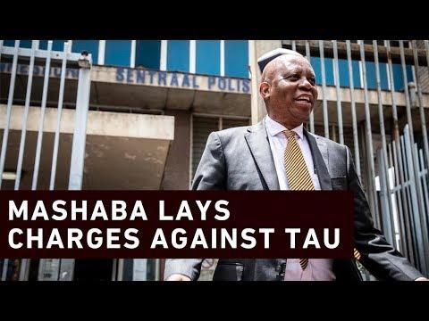 Mashaba lays charges against Tau and Makhubo