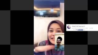 Nono Live Sungguhan Di Buke!! MakCikCleanerJr 1 - Pake Kerudung Manis Nye Senyum Nye Bigo Malesya